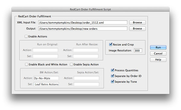 RedCart Order Fulfillment Script