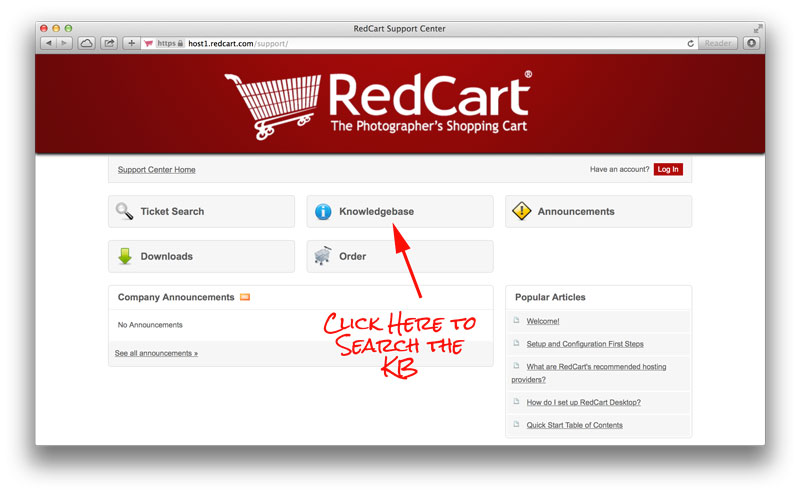 RedCart Knowledgebase